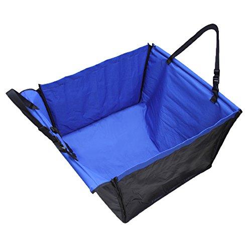 hundeinfo24.de Fuloon verdoppelte Schicht hochwertige Hundedecke Autoschutzdecke Auto Schutzdecke Hängematte Autositz wasserdicht für Haustier Hund Katze blau
