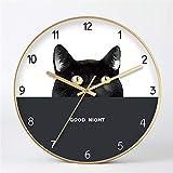 Orologio da Parete Muto Design retrò Orologio da Parete Decorazione,Semplice Appeso a Parete della Camera da Letto 3 12 Pollici