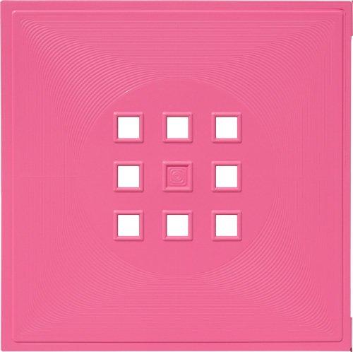Designer Regaltür als Facheinsatz ca. 33,6cm x 33,6cm * Hell-Rosa
