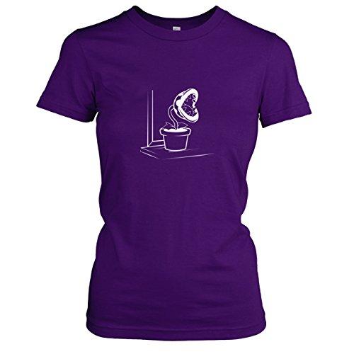 TEXLAB - Piranha Plant - Damen T-Shirt, Größe XL, violett