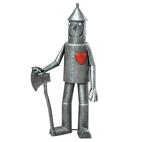 Bits und Pieces-Steadfast Dose Woodman mit Herz Garden Sculpture-Garden Décor Tin Man Yard Art - Garden Statue