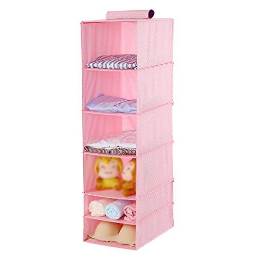 Sacs de rangement Xuan - Worth Another pour Penderie en Tissu Rose pour Vêtements Multi-Couches Boîte de Rangement