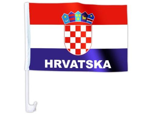 Eine Alsino WM Länder Auto Fahne Autoflagge Autofahne Fahne Auto Länderflagge Auto Fenster Flagge, wählen:AFL-17 Kroatien