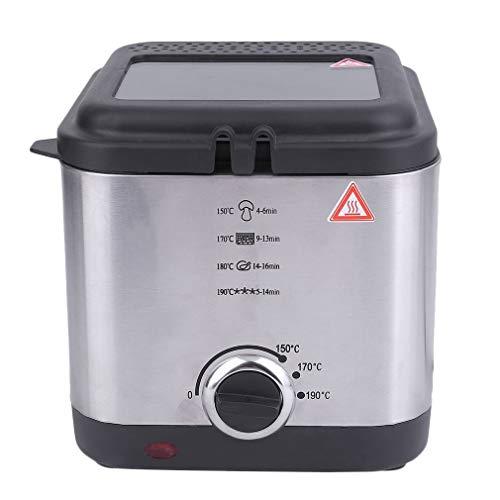 VHNVHN Utensile da Cucina per friggitrice a Grasso Profondo Antiaderente per friggere a Olio con cestello Compatto da 1,5 W da 900 W