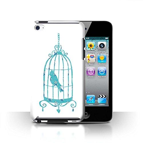 Stuff4 Hülle / Case für Apple iPhone 7 Plus / Martini-Glas/Alkohol Muster / Teal Mode Kollektion Vogelkäfig