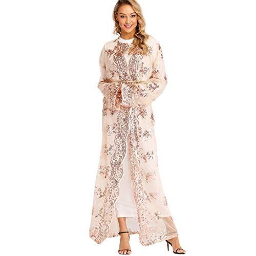 VECOLE Damenoberteile Nationale Robe für Frauen Islamische Moslemische Mittlere Osten Langes Kleid Arabische Nationalstil Lange Strickjacke ()