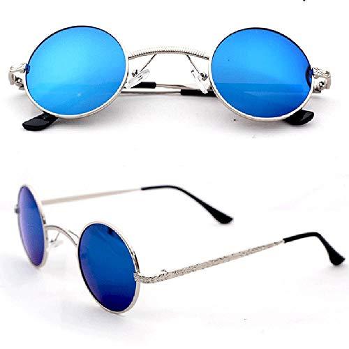 BHLTG Sonnenbrille Männer Und Frauen Retro Prinz Spiegel Trend Ultra Kleine Runde Linse Sonnenbrille -6