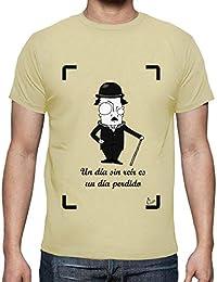 latostadora - Camiseta Chaplin Fondo Blanco para Hombre