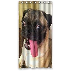 """CARLINO goliton Doubee easiskins animales de poliéster cortina de ducha 91,44 cm x 182,88 cm, 90 cm x 183 cm, poliéster, A, 36"""" x 72"""""""
