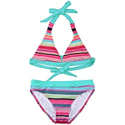 ZOEREA Niñas Bikinis Conjuntos Tankini Bañador de Dos Piezas Bañador Rayas