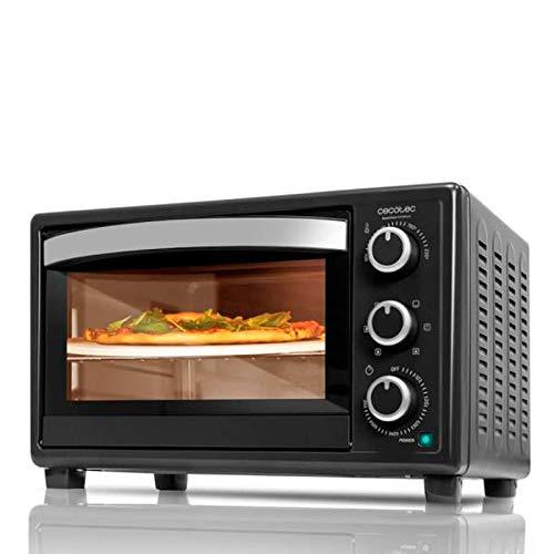 Horno de convección de sobremesa de acero lacado. Dispone de una piedra para hacer fantásticas pizzas. Equipado con luz en el interior que permite controlar el estado de la cocción. Posee una capacidad de 26 litros. Cocina por convección de forma hom...