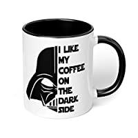 """1 Mug -""""Star Wars Darth Vader"""" Funny Coffee Quote - Perfect for your cuppa Coffee, Tea, Karak, Milk, Cocoa or whatever Hot or Cold Beverage you Drink! - 11 Oz - Black Handle & Inside Colour"""