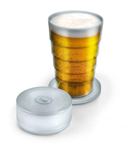 Verre à bière pliable et transportable
