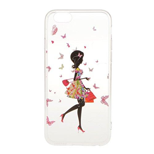 Ultra Dünn Weichen TPU Silikon Schutzhülle Hülle Case Cover für iPhone 6 6S Etui Bumper - Hirsch, Eine Größe Mädchen