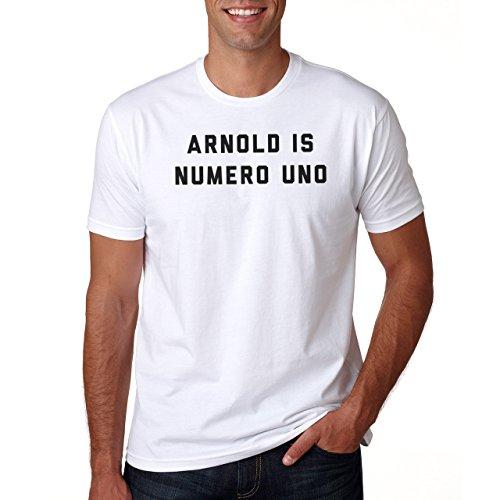 Arnold Is Numero Uno Herren T-Shirt Weiß