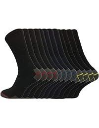 Socksmad Heavy Duty trabajo Calcetines 12 pares de calcetines Bota de seguridad reforzado de Trabajo talones