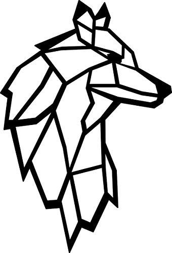 Hansmeier® Wanddeko aus Metall | 38 x 55 cm | Wasserfest | Für Außen & Innen | Metalldeko | Deko Industrial | Motiv Wolf