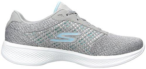 Skechers Gowalk 4 Exceed, Baskets Basses Femme Gris (Gry)