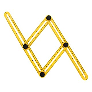 Almondcy Angleizer Template Tool - Multi-Angle Measuring Folding Rules for Handymen, Builders, Craftsmen