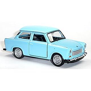Trabant - Trabi - Trabbi - 601 Maßstab 1:34, Rückzugmotor Auto Modellauto Spritzguß (blau)
