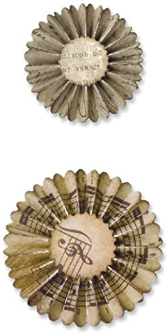 Sizzix Sizzlits Decorative Strip Die Mini Paper Rosettes 2 Sizes