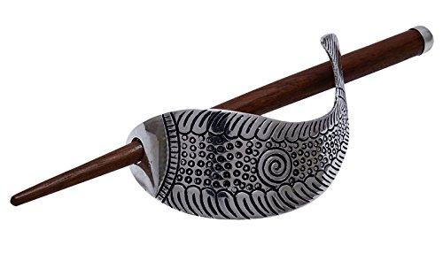 Banithani charme Barrette mode Pin Silvertone main découpée métallique poils accessoire Argent-8