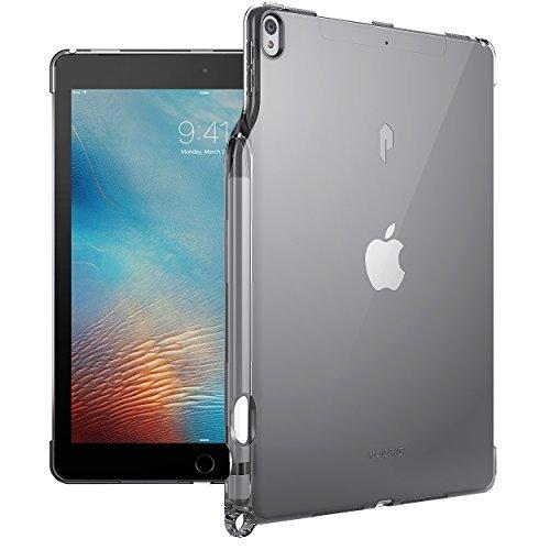 Poetic Lumos Flexibel Wiche Durchsichtig Ultra Dünn Schlagfest TPU Hülle für Apple iPad Pro 10,5 (2017) Durchsichtig Grau (Stift-gel Stift Für Ipad)