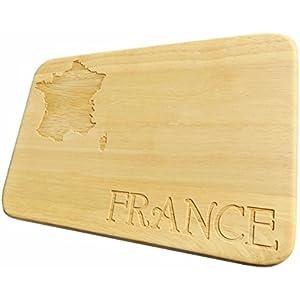 Frühstücksbrett France Brotbrett Frankreich Holz