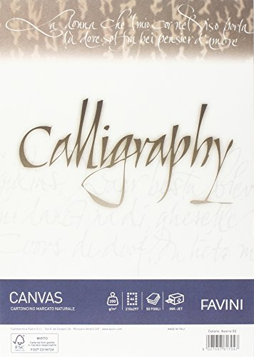 Favini a69q314 calligraphy canvas, a4, avorio