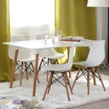 Conjunto-de-comedor-TOWER-2-con-mesa-de-140x80-lacada-blanca-y-4-sillas-Eames