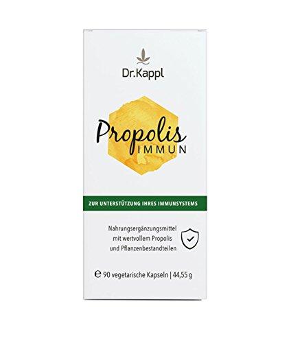 Dr. Kappl Propolis Immun | pflanzliches Nahrungsergänzungsmittel | enthält Bienenkittharz, Vitalpilze & Vitamin C | komplexes Naturprodukt zur natürlichen Stärkung des Immunsystems | hochdosierte vegetarische Kapseln mit antioxidativer Wirkung | 90 Kapseln (Vitamine Immun Kinder)