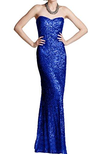 Victory Bridal Modern Glitzer Pailletten Abendkleider Partykleider Promkleider Trumpet Bodenlang Damenmode Neuheit Royal Blau