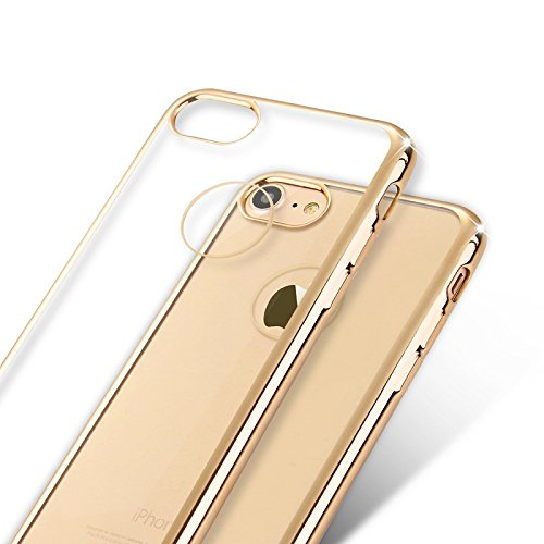 Iphone 6S Durchsichtig , Iphone 6 Clear View Ultra Slim Hülle Schutzhülle Crystal Case Iphone 6 6S, Goldene Goldene