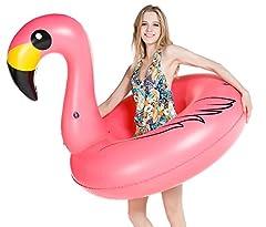 Idea Regalo - Jasonwell Fenicottero Gonfiabile Gigante Salvagente Piscina Galleggiante per Bambini e Adulti Giocattolo Estate Gonfiabile, Giocattolo per Festa in Piscina a valvole Rapide Lettini e giochi gonfiabili (Flamingo)