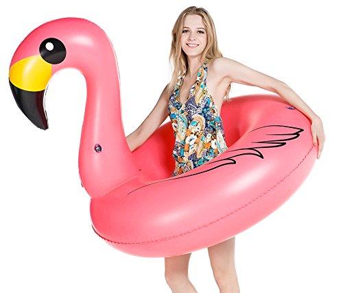 Jasonwell fenicottero gonfiabile gigante salvagente piscina galleggiante per bambini e adulti giocattolo estate gonfiabile, giocattolo per festa in piscina a valvole rapide lettini e giochi gonfiabili (flamingo)