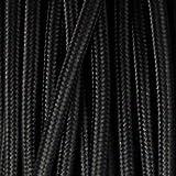 Câble électrique flexible 3 fils de couleur italienne vintage 0,75 mm en tissu tressé flexible de haute qualité pour éclairage britannique 5,10 m