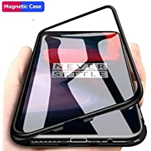 Aine Present Magnetic, Metal Frame, Slim Fit Protective Shockproof Bumper Case for OnePlus 6T