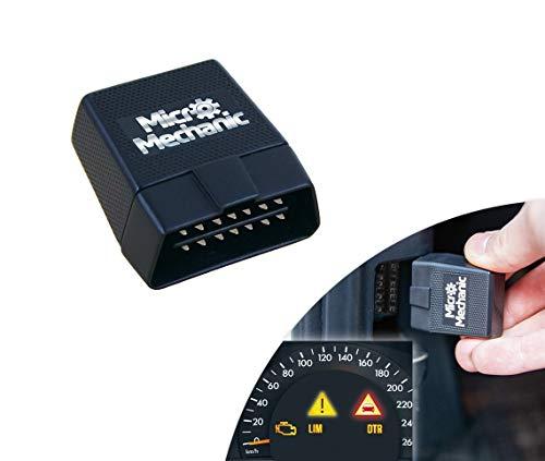 Micro Mechanic OBD2 Bluetooth Diagnosegerät | für iOS iPhone & Android & Windows | Lesegerät OBD II | Fehlerspeicher: scannen, analysieren, löschen | ab Baujahr 1996