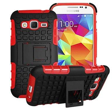 CASE FOR SAMSUNG Proteger el teléfono Celular, 2 en 1 Doble Color del Caso Híbrido PC + TPU Desmontable con Pata de Cabra para Samsung Galaxy Primer Núcleo/Gran cebado/Joven 2/as para Samsung