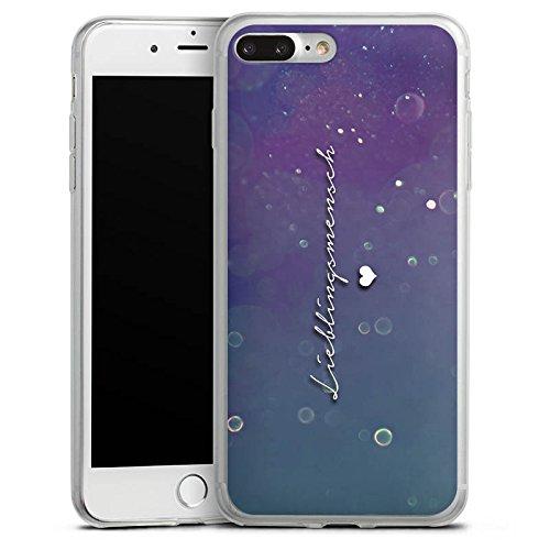Apple iPhone 8 Plus Slim Case Silikon Hülle Schutzhülle Love Lieblingsmensch Sprüche Silikon Slim Case transparent