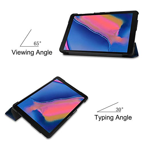 3-Folded Standing Case für Samsung Galaxy Tab A 8,0 Zoll 2019 S-Pen Magnetabdeckung für Samsung Tab SM-P200 SM-P205 Funda Capa - 8 3 Tab Samsung Funda