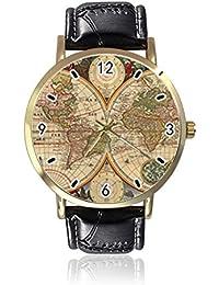 Reloj de Pulsera Vintage con Mapa del Mundo para Mujer d6e85ffefb55