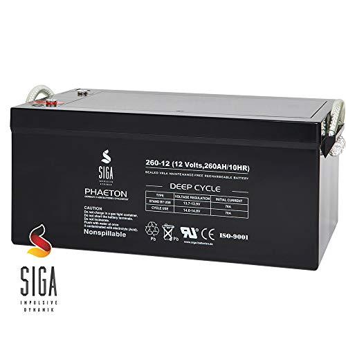 SIGA Blei Akku 260Ah 12V AGM GEL Solarbatterie Versorgungsbatterie Wohnmobil Batterie 280Ah 300Ah