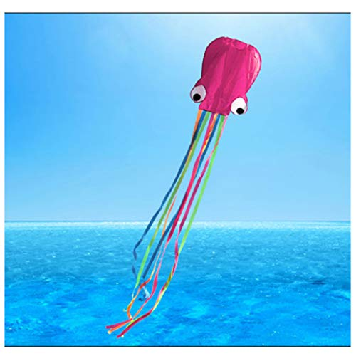 NDRFT Octopus Kite-Beautiful Large Easy Flyer für Outdoor-Spiele und Aktivitäten mit Schnur für Kinder, Jungen, Mädchen, Erwachsene,Pink