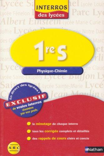 Physique-Chimie 1e S par Cyriaque Cholet