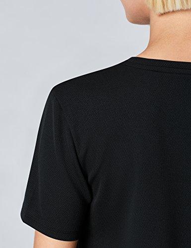 FIND T-Shirt Sportiva Donna Nero (Black)