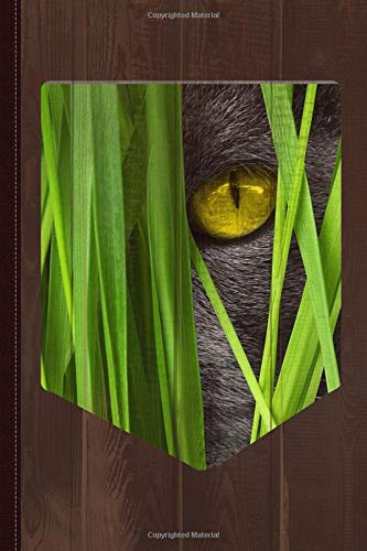 Cat Pocket Grass Journal Notebook: Blank Lined Ruled For Writing 6x9 120 Pages por Flippin Sweet Books