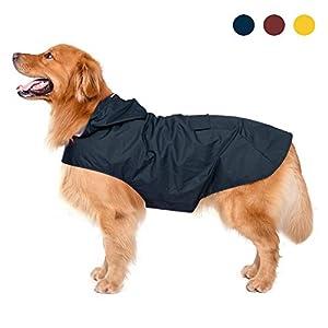 Warum brauchen Sie einen Zellar-Regenmantel für Ihr Haustier? 1. 100% wasserdicht, atmungsaktiv und leicht. 2. Halsbandschlitz für Leinenbenutzer. Sicheres, reflektierendes Streifendesign für die Sicherheit der Hunde bei Nacht 3. Wegen der Kapuze ver...