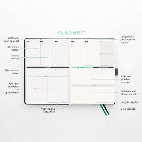 KLARHEIT ® | Life-Coach + Kalender | Der A5-Organizer für mehr Überblick, Struktur und Fokus im Alltag | Selbstcoaching-Tool, Wochenplaner für Termine, Notizbuch | (undatiert, beginne jederzeit) - 7