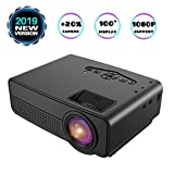 Projector, Mini Projector, Upgraded 2600 Lux Video Projector with 100 Inch 1080P Support